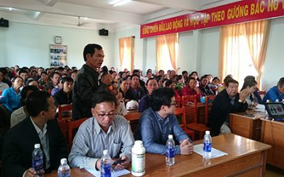 Hội Thảo về các biện pháp phòng trừ tuyến trùng tổng hợp và giới thiệu sản phẩm sinh học Tiêu Tuyến Trùng Landsaver tại xã Tân Văn,Lâm Hà, Lâm Đồng